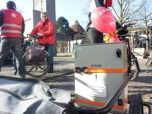 De airbox van ECN waarmee de luchtkwaliteit gemeten wordt