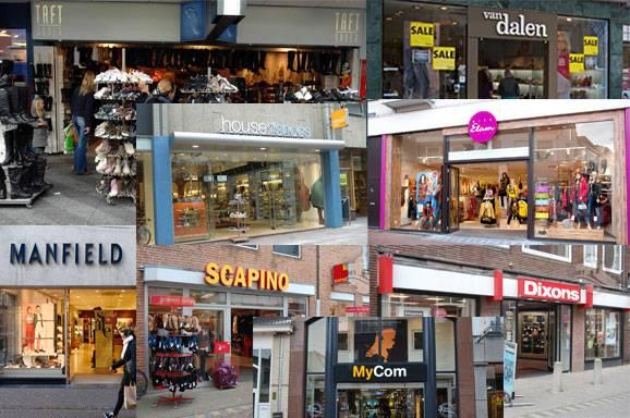 grote kledingwinkels nederland